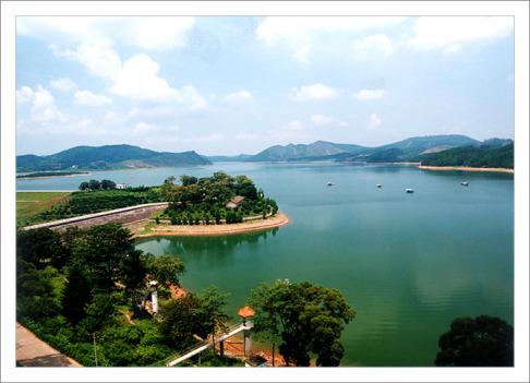 大王滩国家水利风景区位于广西首府南宁市南郊28公